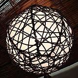 バリウッド・アジアンランプ・バリ照明:丸いラタンボールランプ!吊るすとかわいく雰囲気良しで言うこと無し!