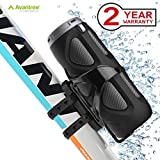 Avantree Portable Wireless Bike Speaker with Bicycle Mount & SD Card Slot, 10W Powerful Enhanced Bass & Wireless NFC Pairing, Splash Proof, Shockproof & Dustproof for Riding, Outdoor