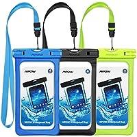 Mpow防水ケース、ユニバーサルドライバッグ防水電話バッグポーチ6.0インチまでのデバイス用3- Pack