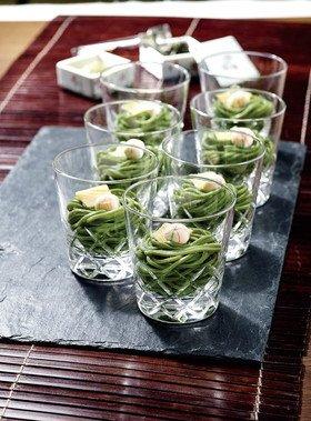 流し麺 茶そばハード(宇治抹茶使用) 200g×5個(4-8月)