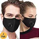 Anti Air Dust and Smoke Pollution Mask Washable PM2.5 Masks - Carbon Activated Face Mask, Windproof Motorcycle Face Masks -Cotton Washable Respirator Breathing Mask for Pollution Smoke Allergy Mask