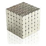 LB本舗 超強力 ネオジウム磁石 マグネット 自由自在に変形 立体パズル 216個セット 5mm× 5mm× 5mm
