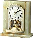 リズム時計 RHYTHM 大理石電波置き時計 パルグロリアR710 オニックス枠 4RY710SR05
