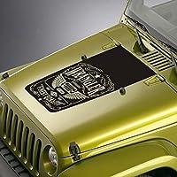 jeepazoid–Jeep Wranglerデカール–Whiskey Labelブラックアウトフードステッカー ブラック jeep blackout decal 0044 blk