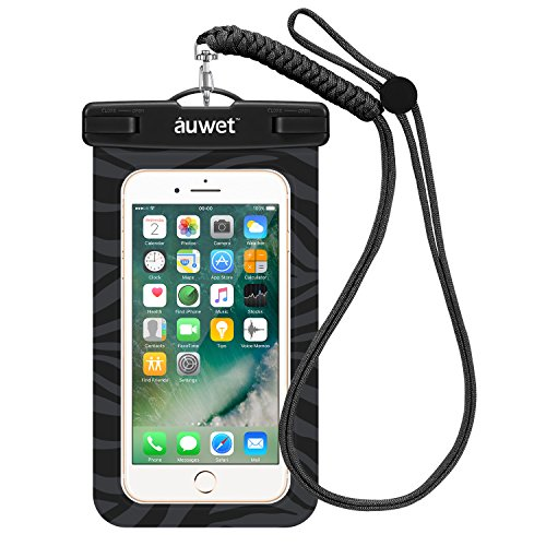 防水ケース Auwet ネックストラップ付属潜水 お風呂 水泳 砂浜 水遊びなど用防水携帯ケースフォンケース・カバー 水中撮影 IPX8認定獲得 iPhone X/6s/6/Plus/SE とAndroid SAMSUNG Galaxy S8/S7 edge/SONY Xperia/HUAWEI スマホ防水ケースなど6インチ以下のスマホに対応