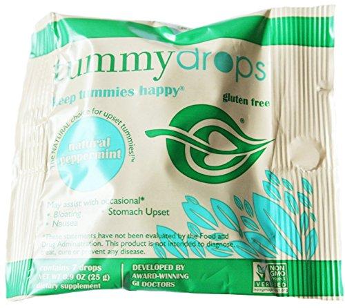 tummy drops-Peppermint(タミードロップスー自然のペパーミントキャンディー)| つわりによる消化不良や吐き気のための、プレミアムミントキャンディー
