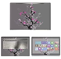 Decalrus - Protective Decal Skin Floral Sticker for HP ENVY 17M AE011DX (17.3 Screen) case cover wrap HPenvy17_ae011dx-174
