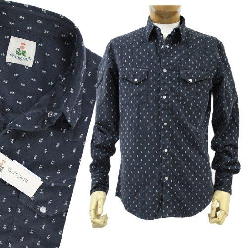ギローバー GUY ROVER GUYROVER 長そでシャツ コーデュロイ スナップボタン コットン(綿)ブラック(墨黒)(guyrover_2241202) (M)