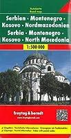 Serbia - Montenegro - Macedonia Road Map 1:500 000