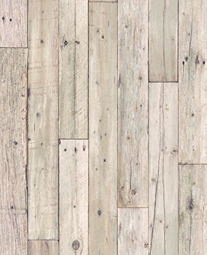 RoomClip商品情報 - サンゲツ 壁紙5m ナチュラル  グレー 木目 FE-4156