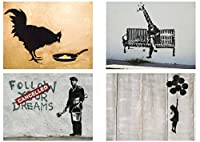 Banksy Graffiti Street Artパック10ポスターコレクション/設定10Prints hp4140