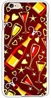 sslink iPhone6s Plus 5.5インチ ハードケース ca838-1 パーティー シャンパン グラススマホ ケース スマートフォン カバー カスタム ジャケット softbank au docomo