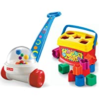 Fisher Price Brilliant Basics Corn Popper and Baby's First Blocks by Fisher-Price
