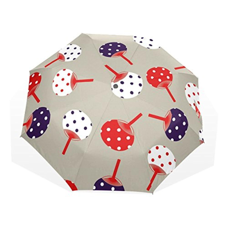 ユキオ(UKIO) 折りたたみ傘 レディース 晴雨兼用 高密度 遮光 手動 遮熱 飛び跳ね防止 梅雨対策 雨傘 日傘 軽量 防風 頑丈 うちわ 収納ケース付