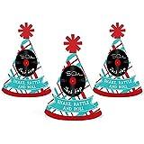 50の靴下ホップ – Mini円錐1950年代Rock N Roll Party Hats – Small Little Party Hats – 10のセット