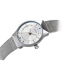 [ユリウス]JULIUS JA-577LD レディース 腕時計 ホワイト 超薄型 文字盤 シルバー ステンレス 日本製クオーツ 3気圧防水 ファッション 女性 ウォッチ