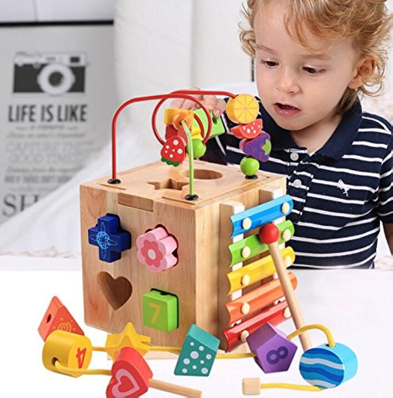 幼児期のゲーム 子供のための多機能木製シェイプソータージオメトリックソートボックス教育形状色認識玩具