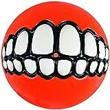 "Kong Rogz Asteroids Grinz Soft Float Fun Fetching Treat Ball Dog Toy Small 2"""