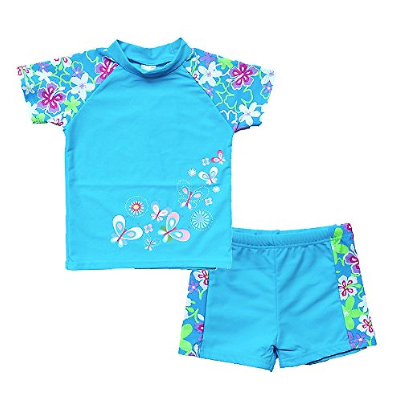 BAOHULU 幼児及び女児用水着 ツーピースタンキニ UPF 50 + のUV保護 3-12歳用
