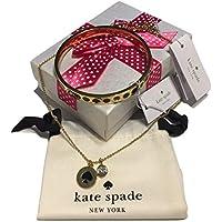 Kate Spade New York Spot The Spadeペンダントネックレスo0ru1343ゴールド/ブラックバンドルwith Kate Spade New Yorkスポットのスペードバングルブレスレットo0ru1338ゴールド/ブラック