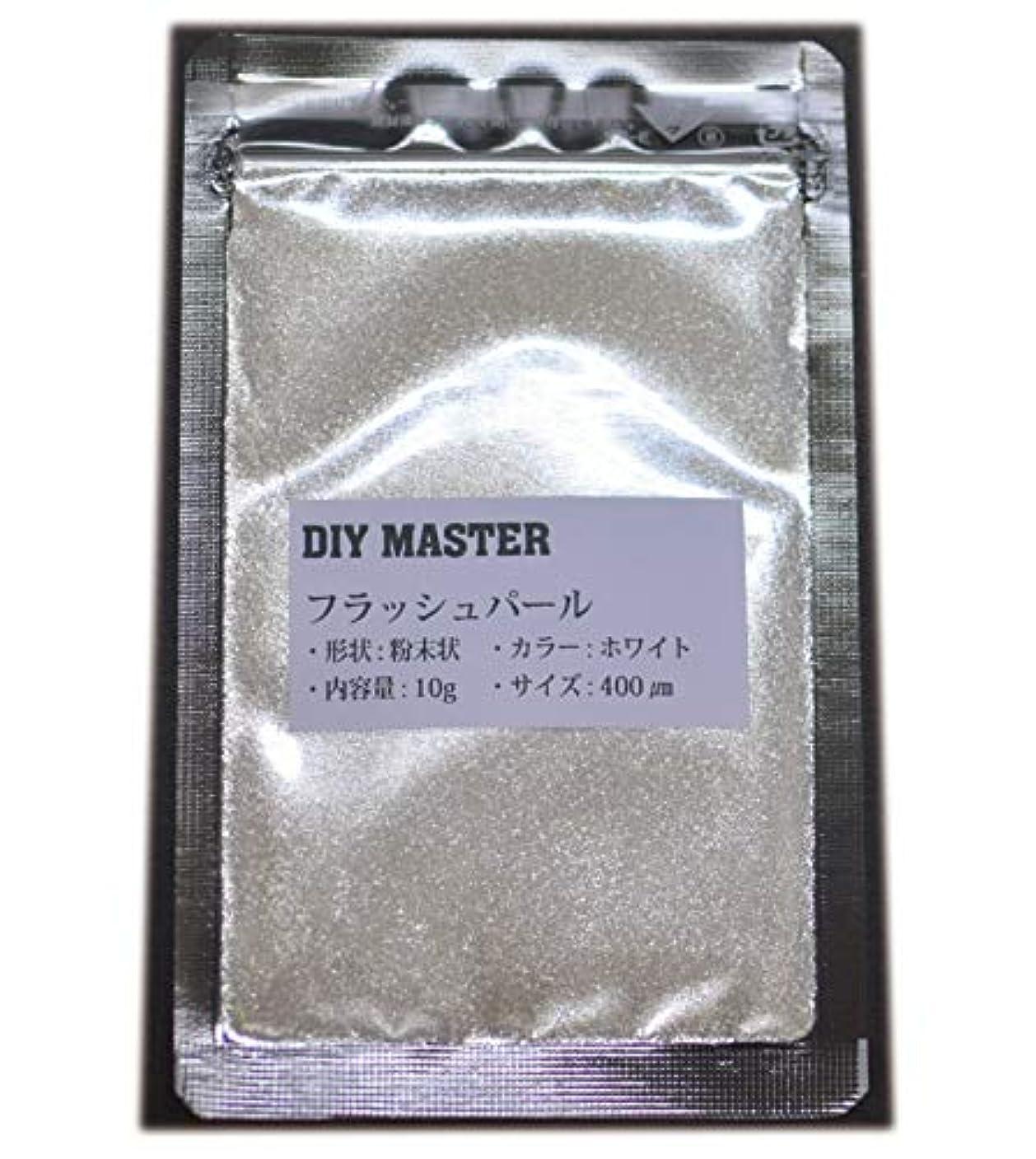ゴミ乞食ゴージャスDIY MASTER フラッシュパール ホワイト 10g (極粗目、ドライ)