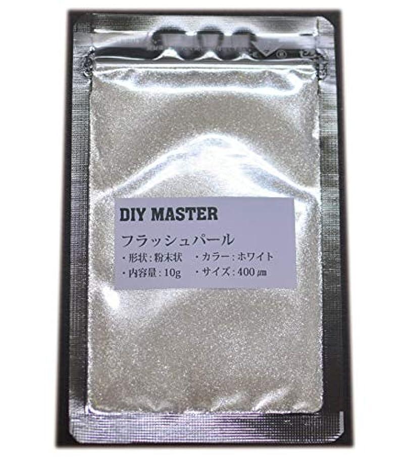 人事文房具禁止DIY MASTER フラッシュパール ホワイト 10g (極粗目、ドライ)