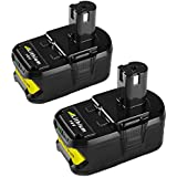 Energup 2Pack P108 Lithium Battery 18V 5000mAh with Recharge Indicator for Ryobi 18-Volt ONE+ Tool P102 P103 P104 P105 P107 P108 P122