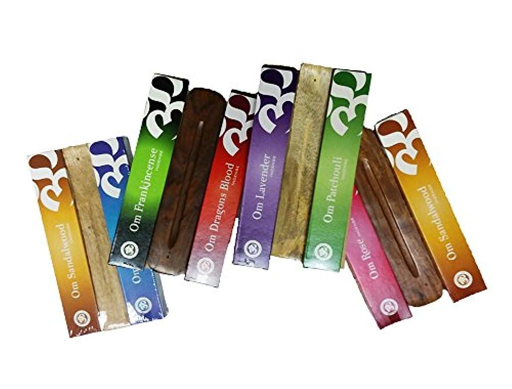 死んでいる力強いテニスOm Incense Works x2 15グラムom incense gift pack w Burner Assorted Fragrance