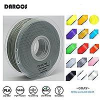 「DARCOS」3Dプリンター用フィラメント PLA素材 正味重さ1kg 直径1.75mm 17色 (グレー)