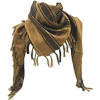 WOLMIK 100% Cotton Military Shemagh Tactical Desert Keffiyeh Head Neck Scarf Wrap