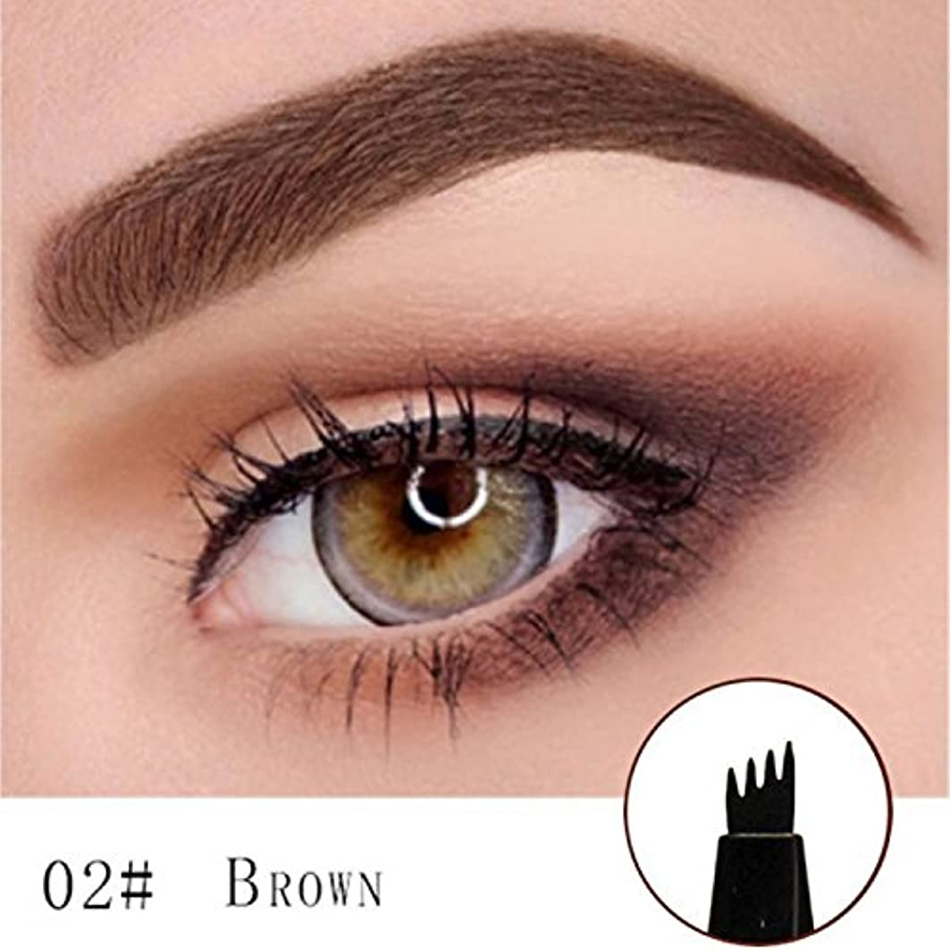 ナンセンス知覚敏感なMicroblading Eyebrow Tattoo Pen (Brown) Micro Blade Eyebrow Tattoo Pen (Brown)