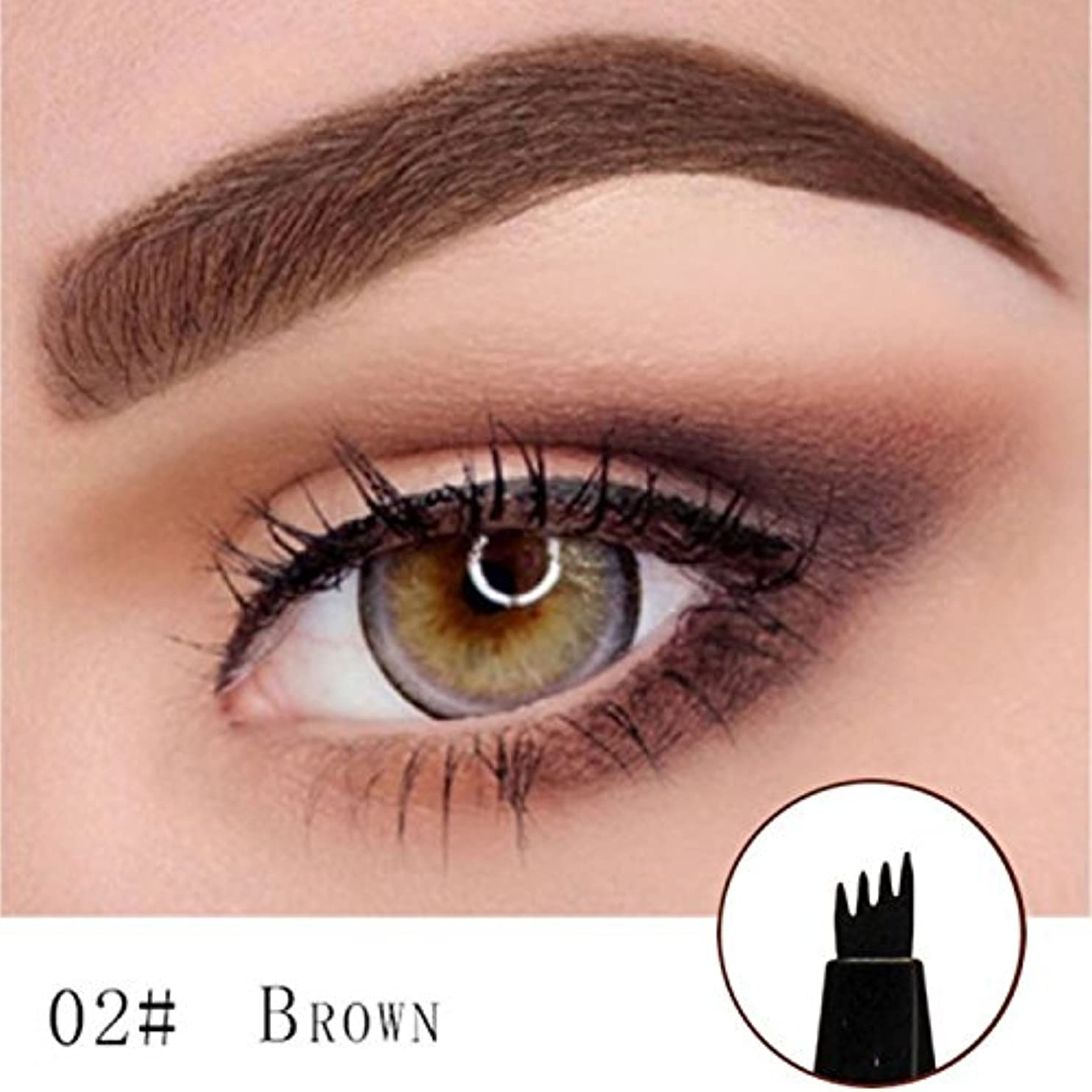 トラブル治安判事篭Microblading Eyebrow Tattoo Pen (Brown) Micro Blade Eyebrow Tattoo Pen (Brown)