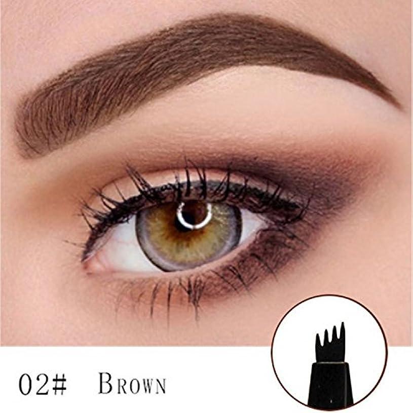 豚裁判官まだらMicroblading Eyebrow Tattoo Pen (Brown) Micro Blade Eyebrow Tattoo Pen (Brown)