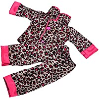 JiliオンラインハンドメイドLeopard Printed Pajamas Outfit for 18 in。American Girl Journey人形
