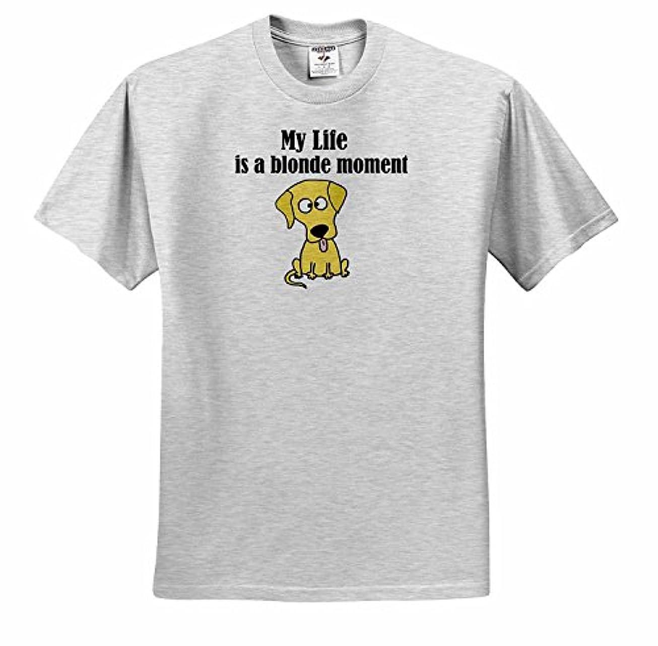 歯車しっとりれんがすべての笑顔アート面白い私の人生はブロンドの瞬間です面白い黄色ラブラドールレトリーバーTシャツ