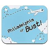 フィラデルフィアやバスト - フライング飛行機マウスパッド