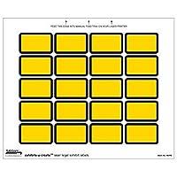 1-5/8 W x 1 H Yellow Exhibits-u-Create Blank Label Packs (240/Pack) - TBBS-48092 [並行輸入品]