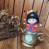 ちびまる子ちゃん 目覚まし時計 おしゃべりアラーム フィギュア魔法のランプ