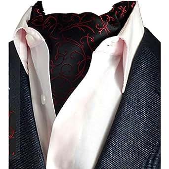 JP Flyer メンズ アスコットタイ ポリエステル糸 ワイシャツ襟巾 ビジネス フォーマル パーティ 紳士 結婚式 おしゃれ スカーフ タイ 両面使えるリバーシブル仕様 全19色   (04)