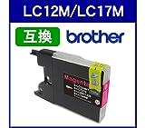 Amazon.co.jpブラザー Brather◆LC12M/LC17M(マゼンタ)対応 LC12/LC17系 互換インクカートリッジ