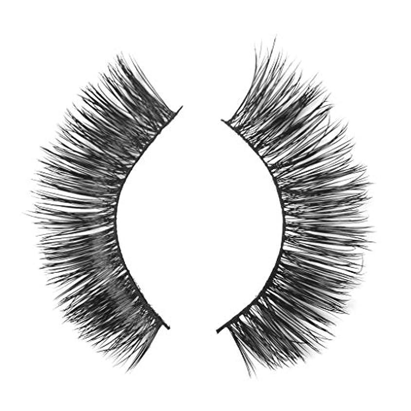 社説頑張る慢ミンクの毛の自然な厚くなる化粧品の3D版のための一組のまつげ