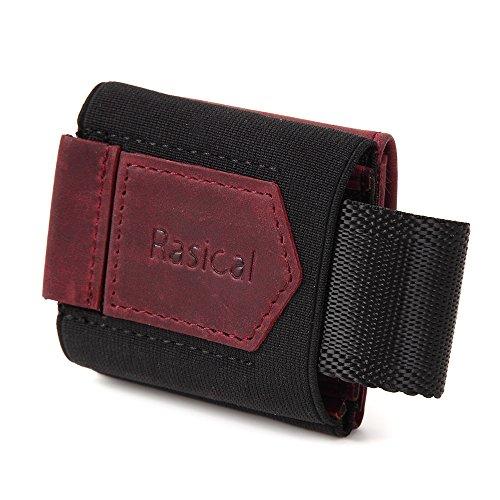 ラシカル(Rasical) ミニマムデザイン コインズウォレット 小さい財布 本革レザー RFIDブロック ミニマリスト 小銭入れ 旅行者 アウトドア ジョギングにもおすすめ (インディアンレッド)