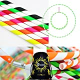 Play Perfect White Coloured Hula Hoops + Flames N Games® Travel Bag. Weighted Travel Hula Hoop (100cm/39') Hula Hoops for Exercise, Dance & Fitness! (350g) NO Instructions Needed - Same Day Dispatch!