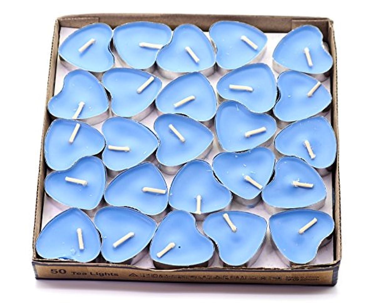 転倒カニ財政(Blue(ocean)) - Creationtop Scented Candles Tea Lights Mini Hearts Home Decor Aroma Candles Set of 50 pcs mini...