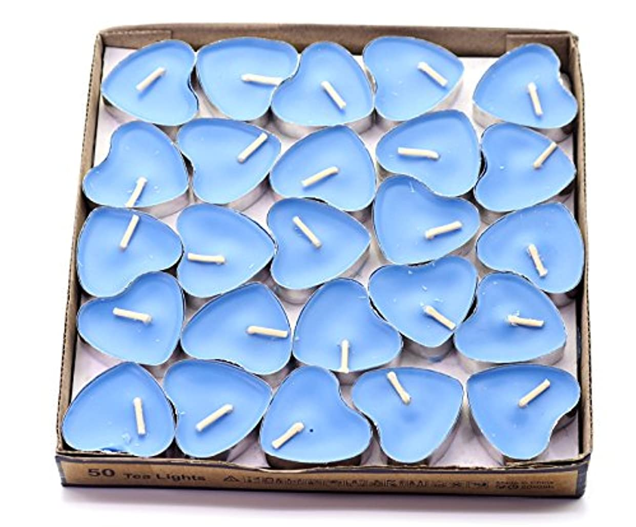 分類野ウサギ平日(Blue(ocean)) - Creationtop Scented Candles Tea Lights Mini Hearts Home Decor Aroma Candles Set of 50 pcs mini...