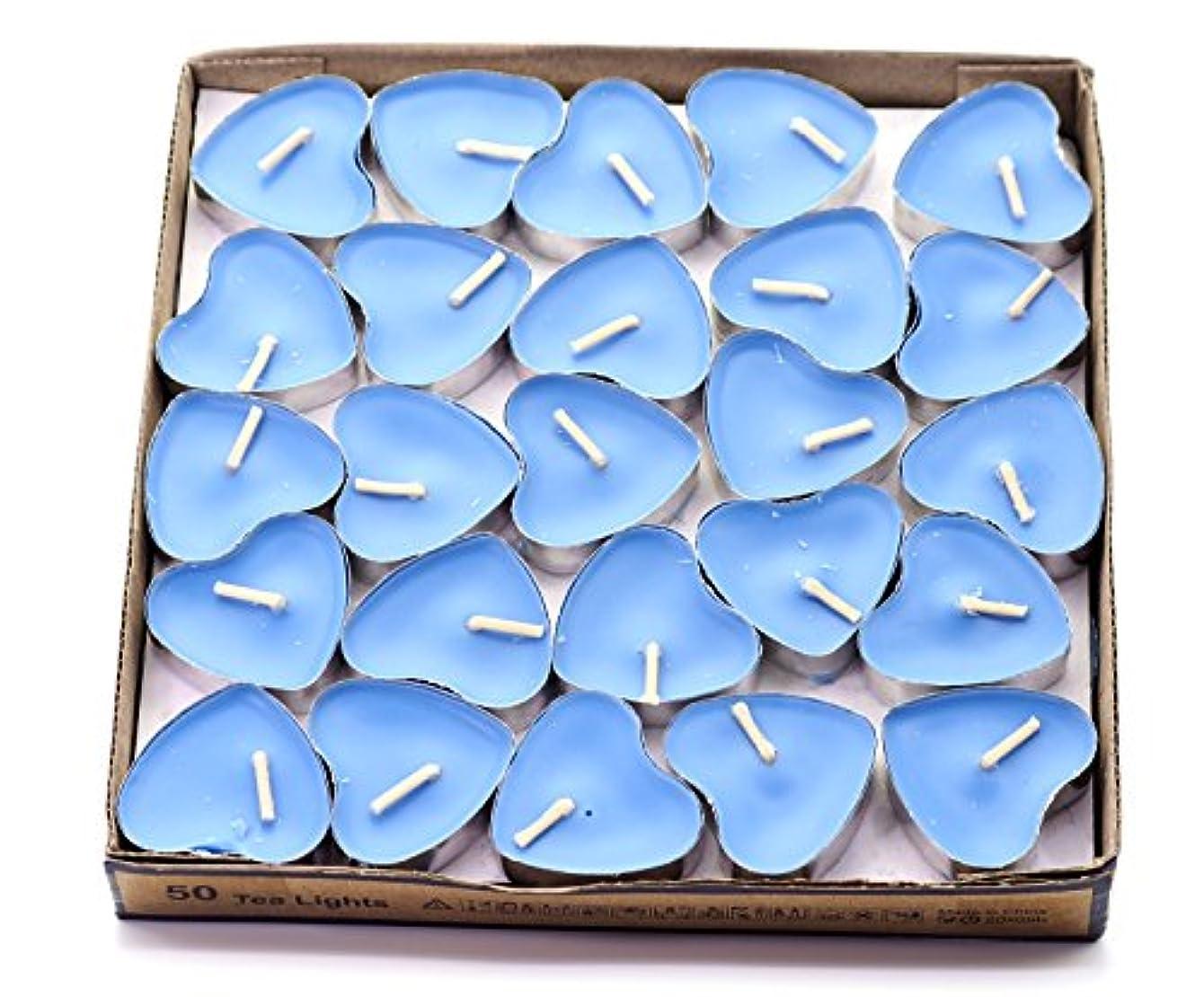 野心ゴール手入れ(Blue(ocean)) - Creationtop Scented Candles Tea Lights Mini Hearts Home Decor Aroma Candles Set of 50 pcs mini...