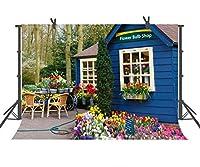 ST 9x 6ft Garden写真バックドロップリラックスカフェ個人用パーティー用背景バックドロップまたはYoutube背景Props st960079