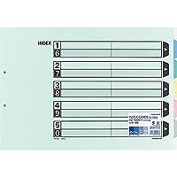 コクヨ カラー仕切カード ファイル用 A3 2穴 5山 10組 シキ-95 【まとめ買い3冊セット】