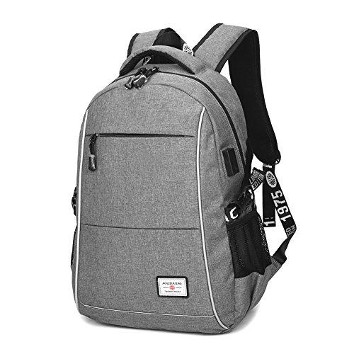 リュックサック 人気 高校生 レジャー リュック レディース メンズ おしゃれ 15 inch PC対応 大容量 20L usb laptop backpack 通学 通勤 アウトドア S&D (USB29*15*45, 灰)