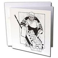 TNMGraphicsスポーツ–Hockey Player–グリーティングカード Set of 12 Greeting Cards